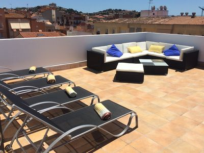 Photo for Spectacular terrace, 5 min from the beach, everything new !!!
