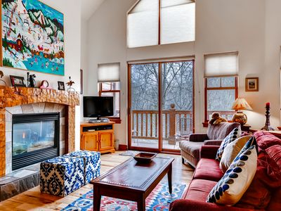 Photo for Vibrant Riverfront Avon Condo Free Shuttle to Beaver Creek