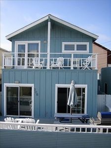 Front of beach house