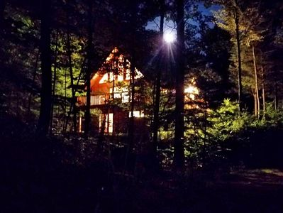 Our Chalet at night