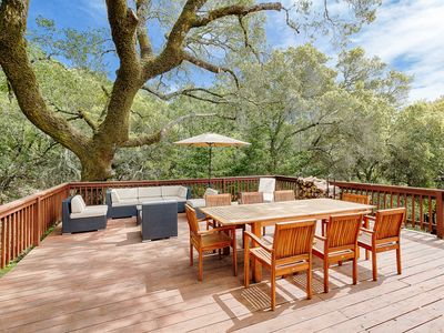 Photo for Modern Mountain Home in Wine Country – 4 Scenic Acres w/ Hot Tub