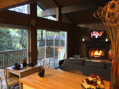 Photo for Romantic Mountain cabin with full AC & EV charging