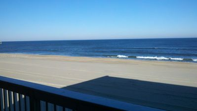 View from the 24 ft. wide private balcony.