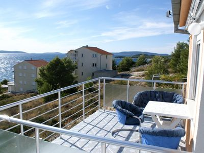 Photo for One bedroom apartment with terrace and sea view Rastići (Čiovo)