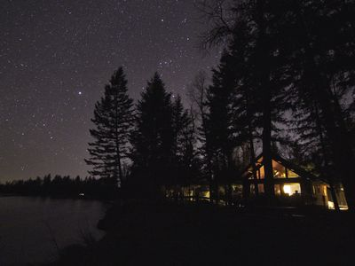 Photo for Explore Glacier Park from Flathead River-front, Dog friendly cabin.