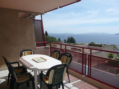 Photo for LAVANDOU - T3 with beautiful sea view in residence with swimming pool.