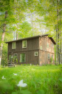 Photo for Rustic Two Level Tree Lodge Surrounded By The Forest With Fireplace And Fire Pit