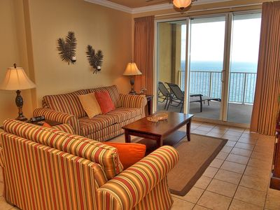 Photo for Tropic Winds 2302 is 2 Bedroom / 2 Bath, 23rd floor, Gulf-front penthouse