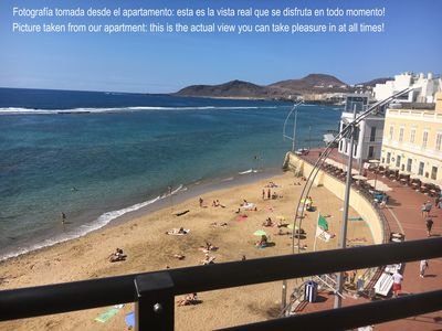 Photo for In the heart of Las Canteras beach with breath taking views