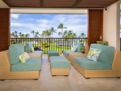 Photo for Nicely upgraded two bedroom ocean view Mauna Lani Terrace rental