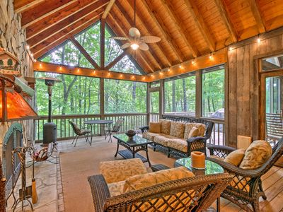 Photo for Sapphire House w/ Screened-In Porch & Forest Views