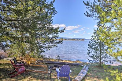 This recently remodeled home is perched on the shores of Island Park Reservoir.