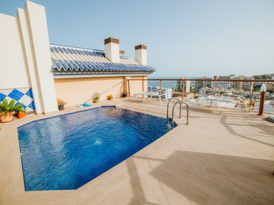 Photo for BELLAGIO LUXURY PENTHOUSE. POOLS, GYM, SAUNA AND JACUZZI. 300M FROM THE BEACH.