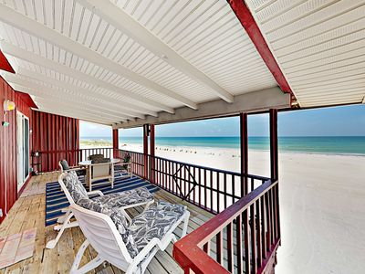 Photo for Unobstructed Gulf Views & Spectacular Sunsets Await! 2BR Beachfront Bungalow