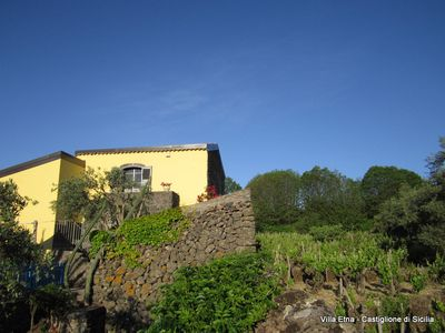 Photo for Romantic 18th Century Hilltop Farmhouse In Vineyard- Stunning Mt. Etna View&pool