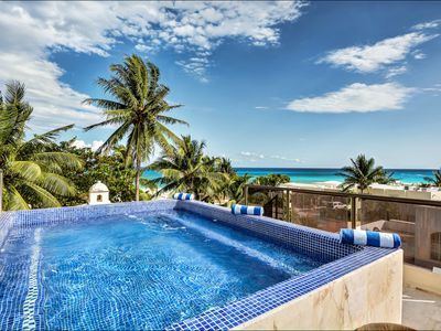 Photo for Charming Playacar Villa steps from the turquoise waters of the Mexican Caribbean