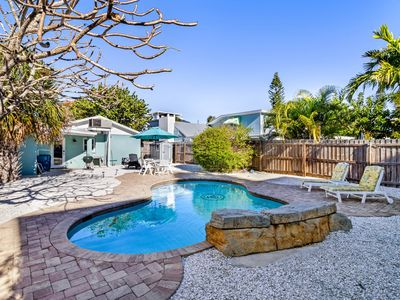 Photo for Colorful beach cottage with private pool, grill area, & more - dog-friendly!