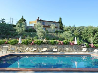 Photo for Villa Antonella - A wonderful view on Lake Trasimeno and private pool