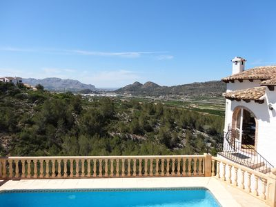 Photo for Luxury Villa Monte Ped, max 6, private heated pool, air con, wifi, view.