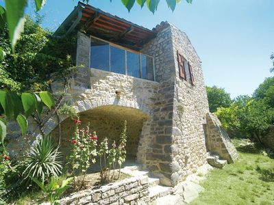 Photo for Beautiful, stone holiday house, built against a hill in a nature reserve