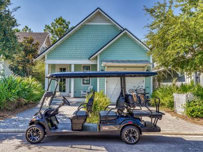Photo for 3 Bedroom Home + 6 Seater Golf Cart + 4 Adult Cruiser Bikes in WaterSound West!