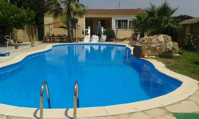 Photo for CHALET RURAL HOUSE WITH SWIMMING POOL BARTAQUE MOUNTAIN AND BEACH AMPOSTA (DELTA DEL EBRO