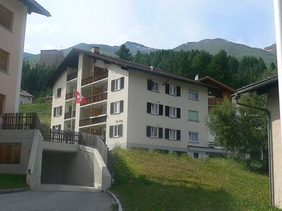 Photo for Apartment in the center of Zuoz with Lift, Parking, Washing machine, Balcony (63003)
