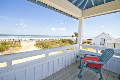 The ocean view is captivating from the deck of The Hut! - A camera's a good choice for capturing the stunning ocean views, but at times like this, perhaps a sketch pad will do just as well!