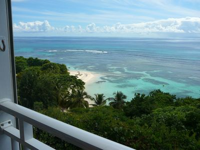 Photo for Studio L'Anse Bleue, panoramic sea view and private beach