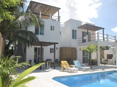 Photo for Gorgeous Ocean View with Pool & Rooftop Terrace! Just steps to beach!