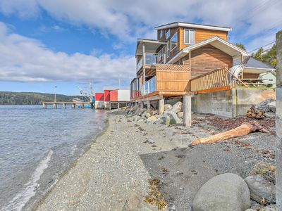 Photo for NEW! Bayfront Sointula Apt w/Deck on Private Beach