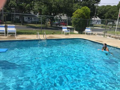 Photo for has pool-1/2 mile to beach