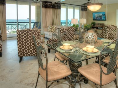 Photo for Azure 410--FREE BEACH SERVICE!--3 Bedroom/3 Bath Condo directly on the beach