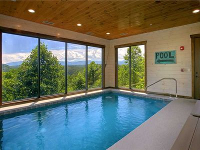 Photo for Aqua Dreamin Retreat | Private Indoor Pool | Mountain Views | Wi-Fi | Theater Room | Easy Access