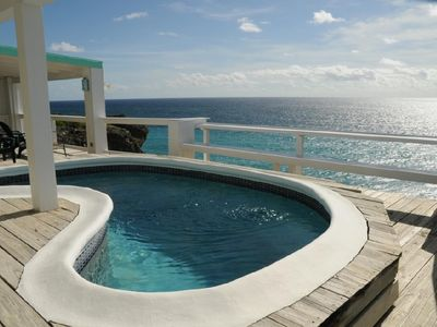 Oceanfront villa on cliff with spectacular view