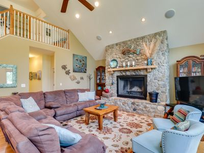 Photo for Lakefront & dog-friendly home w/dock, firepit, water toys