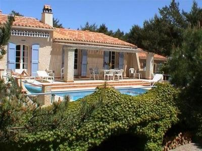 Photo for Very confortable house provencal style on 5000m2 garden inside a wonderful guarded domain with private lake, tennis courts and swimming pool (warmed on request)