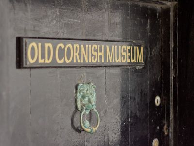 The ancient door of the Old Cornish Museum