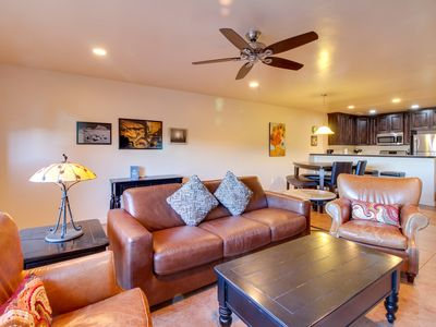 Photo for Tranquil desert retreat with shared hot tub, pool, tennis courts, & great views