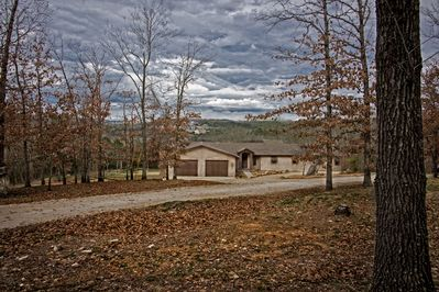 Your own space, this home sits on 7 acres, 1/2 mile from the 76 Strip!!