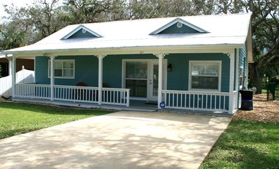 """Photo for """"Blue Haven""""- Adorable 3bed/1 bath updated beach house close to beach and town!"""