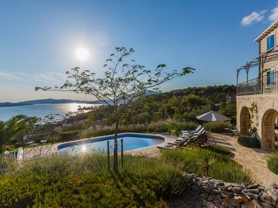 Photo for Luxurious stone villa on Croatian coast - amazing view - concierge 3hr- wellness