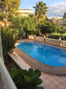 Photo for Detached house with heatable pool and sea view, pets allowed