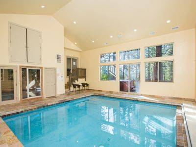 Indoor pool with dry sauna and steam room