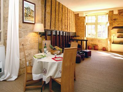 Photo for Self catering apartment in the historical centre of Sarlat with wifi