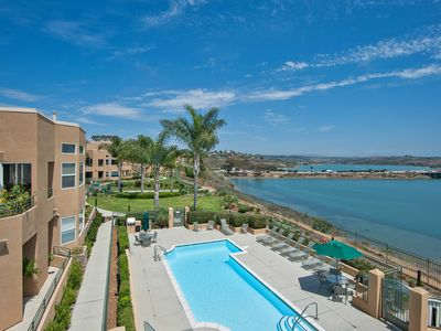 Photo for Spacious Condo On Lagoon, Walk To Beach, Carlsbad Village