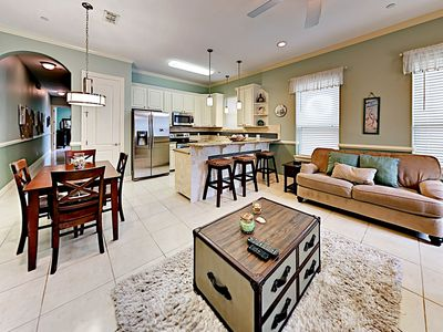 Photo for Half-Block to Beach! Cheerful Coastal Condo w/ Lap Pool, Loungers & Grill