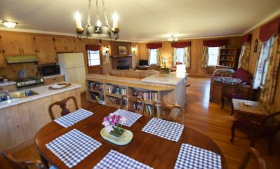 Dining and open plan living area