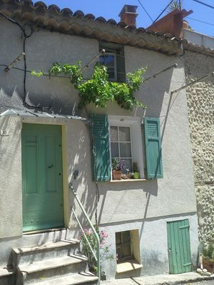Photo for Typical Provencal terraced house in the center of Valensole, Provence, Verdon