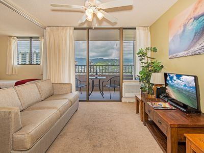 Royal Kuhio Condo W/Sweeping Views, Private Lanai, Full Kitchen, FREE Parking